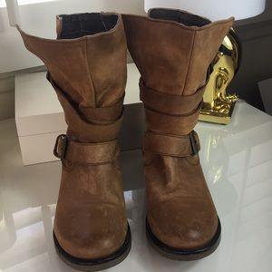 Steve Madden Brewzzer Leather Boots 8🎀